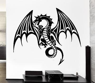 Wall Decal Dragon Myth Fantasy Monster Cool Decor Unique Gift (z2692)