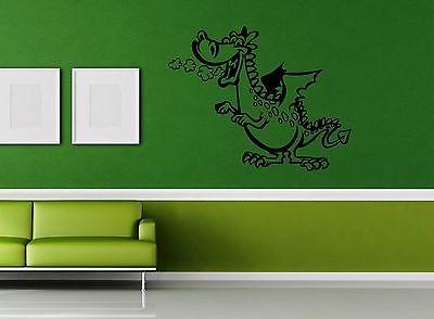 Wall Sticker Vinyl Decal For Children Dragon Nursery Tales Fantasy Unique Gift (ig1188)