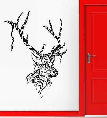 Wall Sticker Vinyl Decal Deer Animal Christmas Great Decor Room (ig2122)