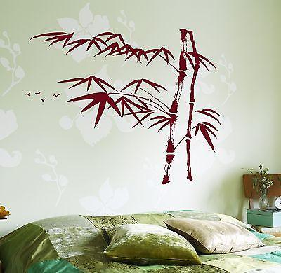 Wall Decal Tree Bamboo Bird Bedroom Vinyl Sticker Unique Gift (z3641)