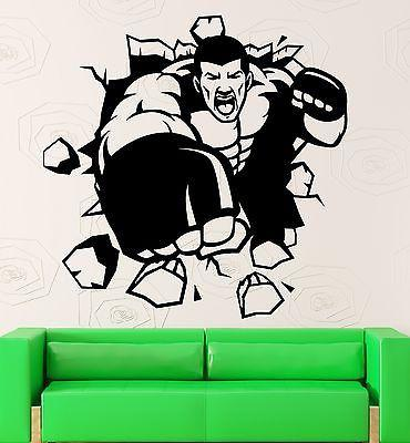 Wall Sticker Vinyl Decal Fighter Fight Martial Arts Sport Cool Decor Unique Gift (ig2134)