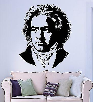 Wall Stickers Vinyl Decal Beethoven Music Famous Composer Unique Gift (ig1771)