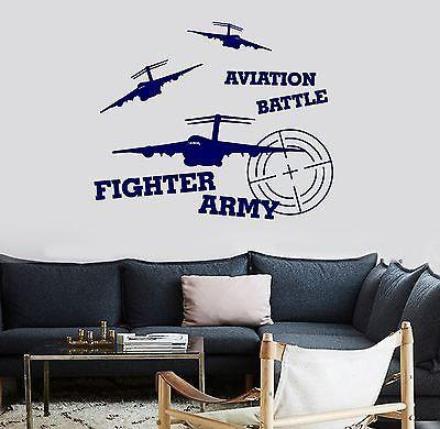 Wall Vinyl Jet Aviation Fighter Airplane War Guaranteed Quality Decal Unique Gift (z3457)