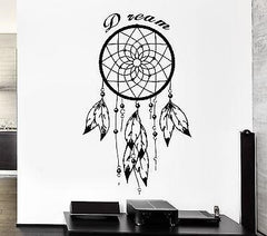Wall Decal Dreamcatcher Dream Catcher Native American Quote Dream Unique Gift (z2782)