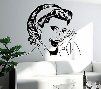 Wall Sticker Sexy Girl Woman Lady Pop Art Bedroom Living Room Unique Gift (z2593)