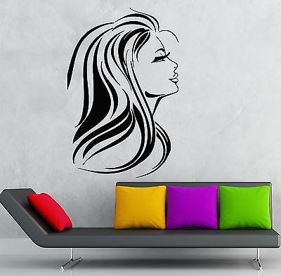 Wall Sticker Vinyl Decal Hot Sexy Girl Hair Beauty Salon Spa Decor Unique Gift (ig1880)