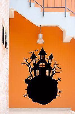 Wall Stickers Vinyl Decal Evil Spirits Castle Halloween Horror For Kids Unique Gift z1204