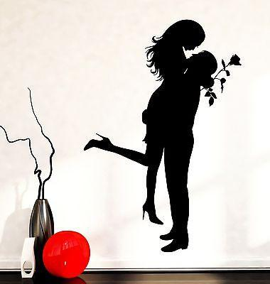 Wall Decal Love Romantic Girl Man Rose Family Vinyl Sticker (z3594)