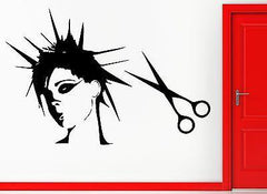 Hair Beauty Spa Salon Barbershop Girl  Decor Wall Stickers Vinyl Decal  (z2247)