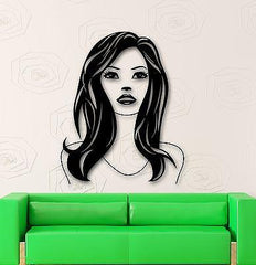 Wall Stickers Vinyl Decal Beautiful Woman Hair Beauty Salon Murals Unique Gift (ig589)