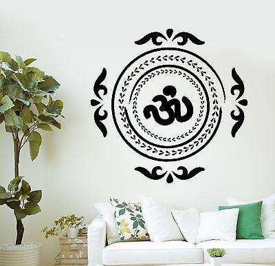 Wall Decal Buddha Native Indian Ornament Om Vinyl Sticker Unique Gift (z2882)