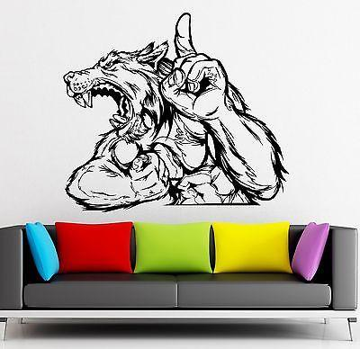 Wall Sticker Vinyl Decal Werewolf Wolf Fantasy for Kids Room Nursery Unique Gift (ig1862)