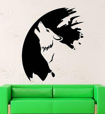 Wall Sticker Vinyl Decal Wolf Animal Art Painting Artist Tribal Decor Unique Gift (ig2071)