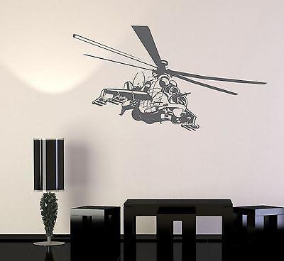 Wall Vinyl Helicopter Strike Airforce Guaranteed Quality Decal Unique Gift (z3443)