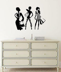 Beautiful Style Fashion Girl Room Shopping Art Wall Sticker Vinyl Decal Unique Gift (ig2039)