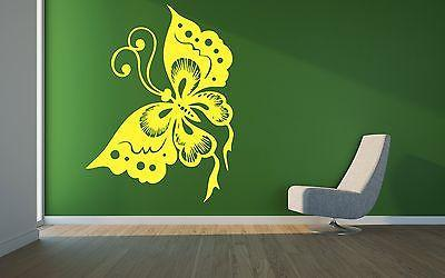 Butterfly Flower Summer Nursery Living Room Decor Wall Vinyl Sticker Decal Unique Gift m553