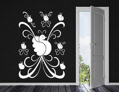 Vinyl Decal Bird of Paradise Beautiful Pattern Motif Decor Wall Sticker Unique Gift (n026)