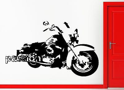 Bike Biker Passion Motorcycle Speed Decor Wall Stickers Vinyl Decal  (z2252)