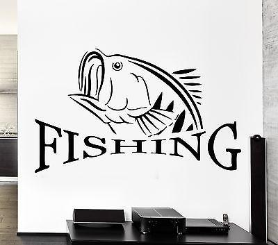 Wall Decal Fishing Fish Lake Relax Relaxation Cool Decor For Man Unique Gift (z2757)