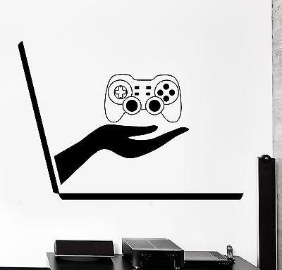 Wall Decal Gaming Joystick Joypad Laptop Video Gamer Vinyl Decal Unique Gift (z3101)