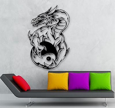 Wall Sticker Vinyl Decal Chinese Philosophy Yin Yan Taijitu Oriental Unique Gift (ig1938)