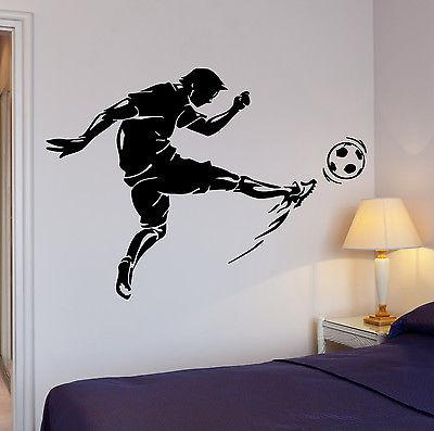 Wall Decal Soccer Kick Football Ball Sport Decor Cool Interior Unique Gift (z2717)