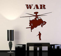 Wall Vinyl Soldier Marine Helicopter War Guaranteed Quality Decal (z3455)