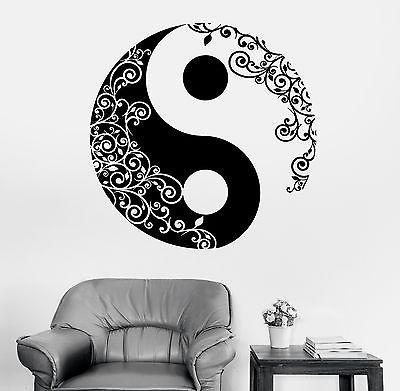 Wall Sticker Buddha Yin Yang Floral Yoga Meditation Vinyl Decal Unique Gift (z2897)