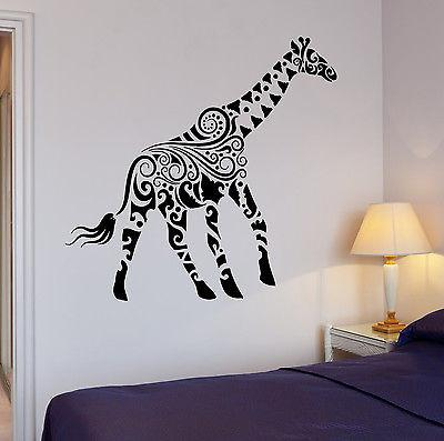 Wall Sticker Giraffe African Animals Kids Room Art Mural Vinyl Decal (ig1919)