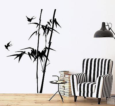 Wall Decal Branch Tree Bamboo Bird Bedroom Vinyl Sticker Unique Gift (z3642)