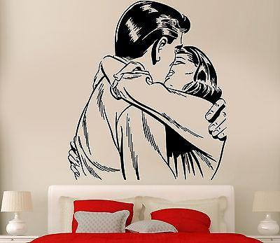 Wall Sticker Love Kiss Man And Woman Romantic Decor For Living Room Unique Gift (z2595)