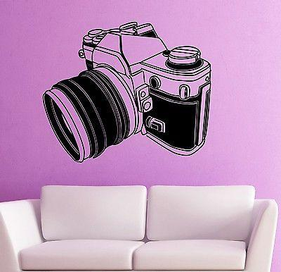 Wall Stickers Vinyl Decal Camera Photo Art Excellent Room Decor Unique Gift (ig1807)
