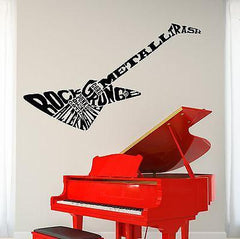 Wall Vinyl Music Electric Guitar Heavy Metal Guaranteed Quality Decal Unique Gift (z3490)