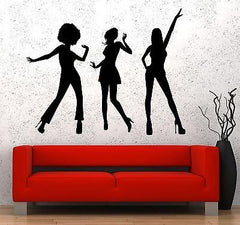 Wall Vinyl Music Sexy Disco Girl Guaranteed Quality Decal (z3500)