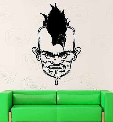 Wall Sticker Vinyl Decal Zombie Punk Cool Room Decor Unique Gift (ig1848)