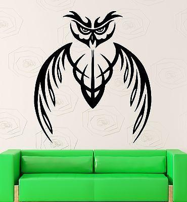 Wall Stickers Vinyl Decal Owl Bird Abstract Tribal Mascot Living Room (ig2263)