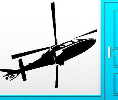 Wall Sticker Vinyl Decal Helicopter Air Special Forces Army Cool Decor (z2507)
