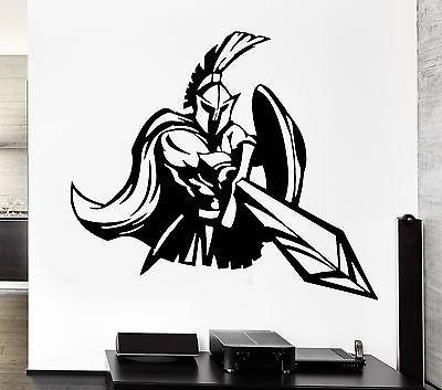 Wall Decal Strength Army Warrior War Ancient Greece Rome Vinyl Decal Unique Gift (ed306)