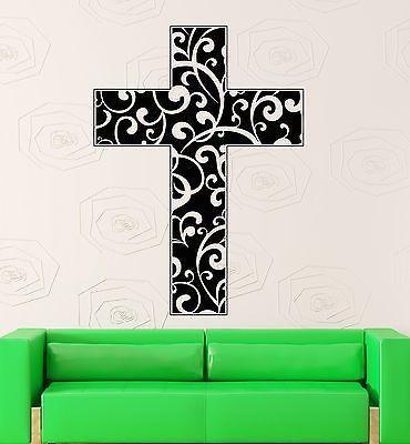 Wall Sticker Vinyl Decal Cross Religion Christianity Jesus Decor (ig2163)