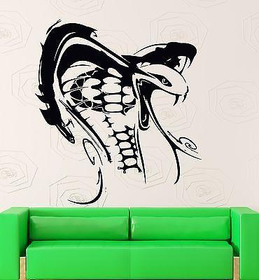 Wall Sticker Vinyl Decal Poisonous Snake Reptile Animal Cobra Unique Gift (ig2102)