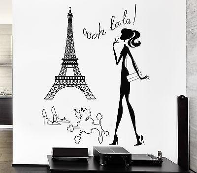 Wall Stickers Hot Sexy Woman Paris France Europe Art Mural Vinyl Decal (ig1944)