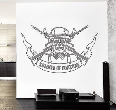 Wall Vinyl Army Soldier Of Fortune Guaranteed Quality Decal Unique Gift (z3463)