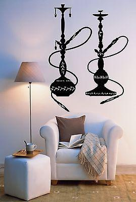 Wall Sticker Hookah Arabic Smoke Smoking Muslim Marijuana Cool Decor Unique Gift (z2566)