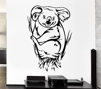 Wall Decal Koala Animal Eucalyptus Australia Marsupials Vinyl Stickers (ed260)