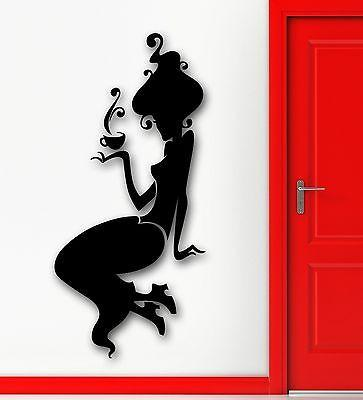 Wall Sticker Vinyl Decal Sexy Silhouette Girl Beauty Cafe Coffee Pause Unique Gift (ig1962)