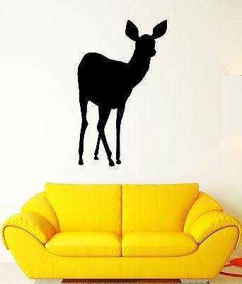 Wall Decal Animal Deer Forest Nature Artiodactyls Hunting Vinyl Stickers (ed218)
