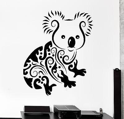 Wall Decal Koala Animal Jungle Ornament Tribal Mural Vinyl Decal (z3303)