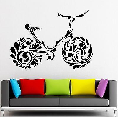 Wall Sticker Vinyl Decal Bike Pattern Decor Sports Healthy Lifestyle Unique Gift (ig2089)