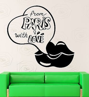 Wall Sticker Vinyl Decal Love Lips Paris France Europe Travel Girl Unique Gift (ig2227)