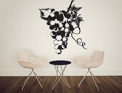 Wall Sticker Vinyl Decal Grapevine Fruit Sugar Taste a Bunch of Berries Unique Gift (n132)